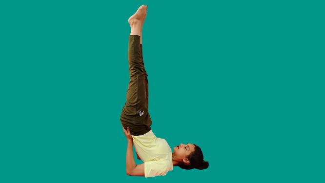 विपरीतकरनी Viparita karani (Inverted Pose)